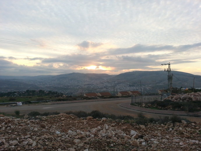 Sunset over Shechem
