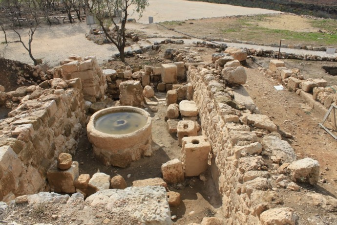 Ancient olive press - Tel Shiloh